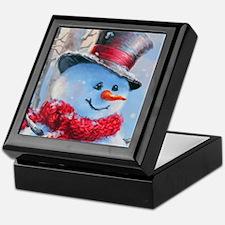 Snowman in the Woods Keepsake Box