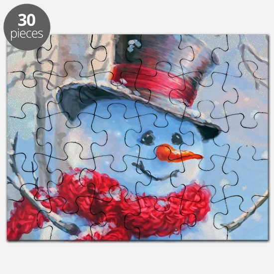 Snowman in the Woods Puzzle