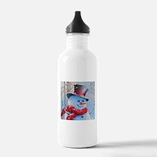 Snowman in the Woods Water Bottle