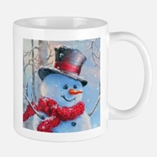 Snowman in the Woods Mugs