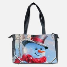 Snowman in the Woods Diaper Bag