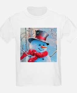 Snowman in the Woods T-Shirt