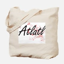 Atlatl Artistic Design with Hearts Tote Bag