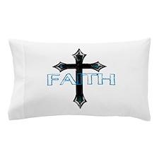 CROSS FAITH BLACK TURQUOISE Pillow Case