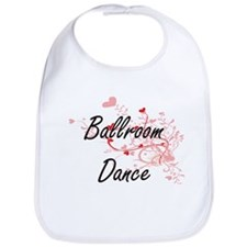 Ballroom Dance Artistic Design with Hearts Bib