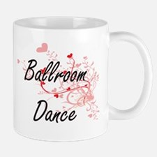 Ballroom Dance Artistic Design with Hearts Mugs