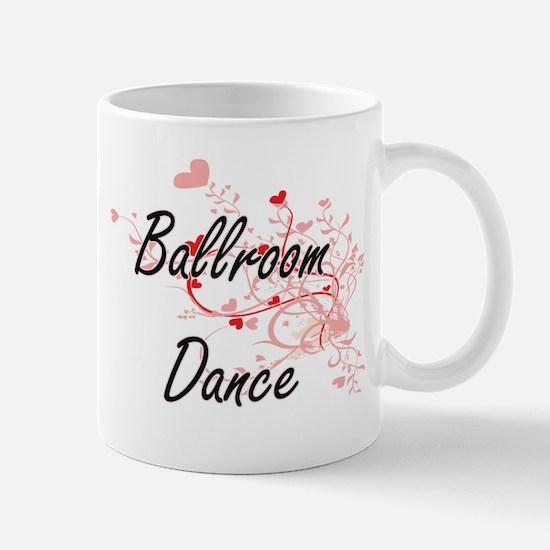 Ballroom Dance Artistic Design with Hearts Mugs