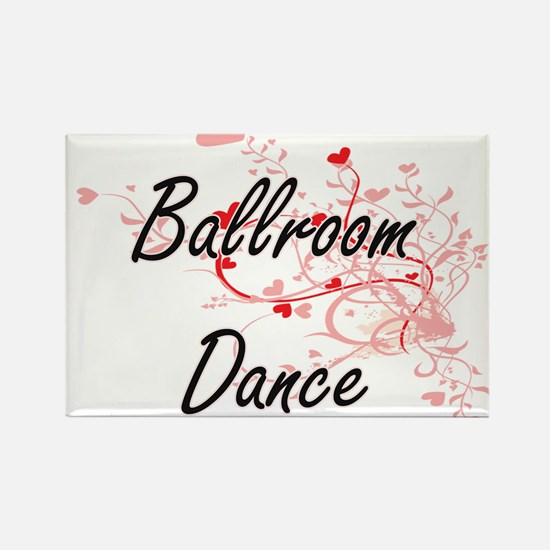 Ballroom Dance Artistic Design with Hearts Magnets