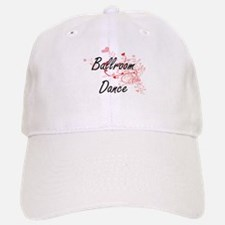 Ballroom Dance Artistic Design with Hearts Baseball Baseball Cap