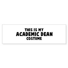Academic Dean costume Bumper Bumper Sticker