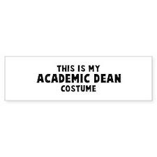 Academic Dean costume Bumper Bumper Stickers
