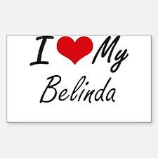 I love my Belinda Decal