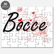 Bocce Artistic Design with Hearts Puzzle