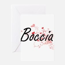 Boccia Artistic Design with Hearts Greeting Cards