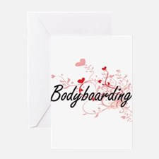 Bodyboarding Artistic Design with H Greeting Cards