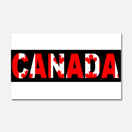 CANADA-BLACK Car Magnet 20 x 12