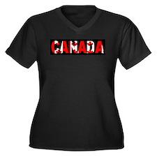 CANADA-BLACK Plus Size T-Shirt