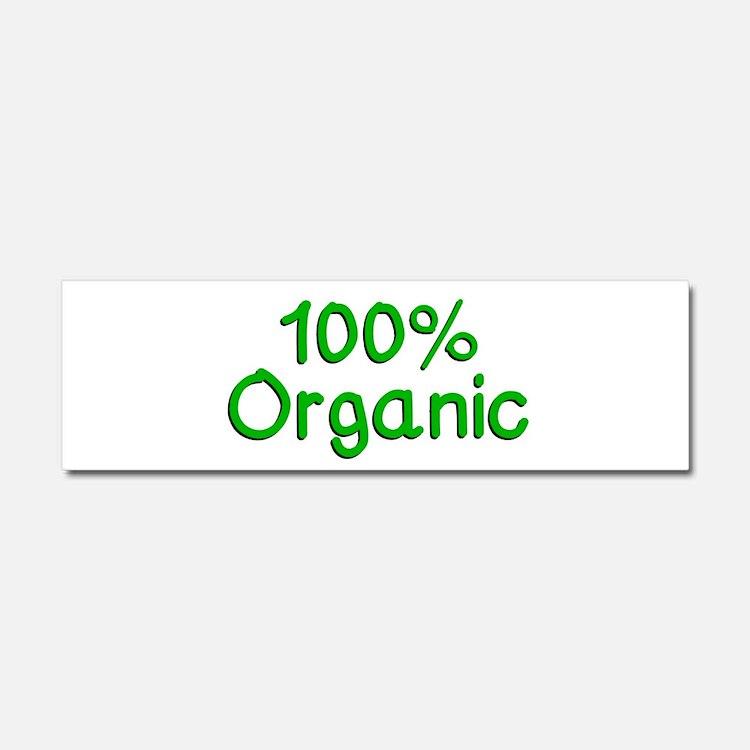 100 % Organic Car Magnet 10 x 3