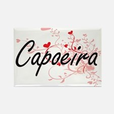 Capoeira Artistic Design with Hearts Magnets