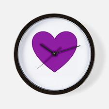 Unique Purple heart military Wall Clock
