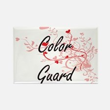 Color Guard Artistic Design with Hearts Magnets
