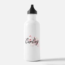 Curling Artistic Desig Water Bottle