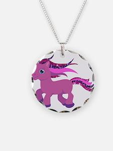 glitter pony Necklace