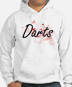 Darts Artistic Design with Heart Hoodie