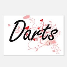 Darts Artistic Design wit Postcards (Package of 8)