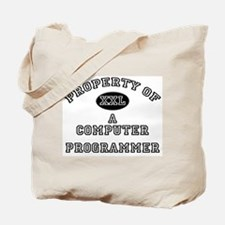 Property of a Computer Programmer Tote Bag