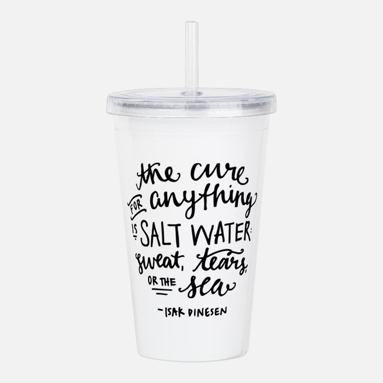 Salt Water Cure Acrylic Double-wall Tumbler