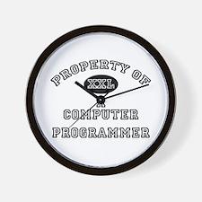 Property of a Computer Programmer Wall Clock
