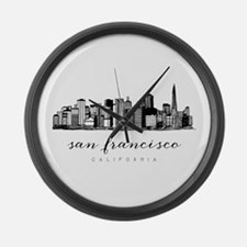 San Francisco Skyline Large Wall Clock