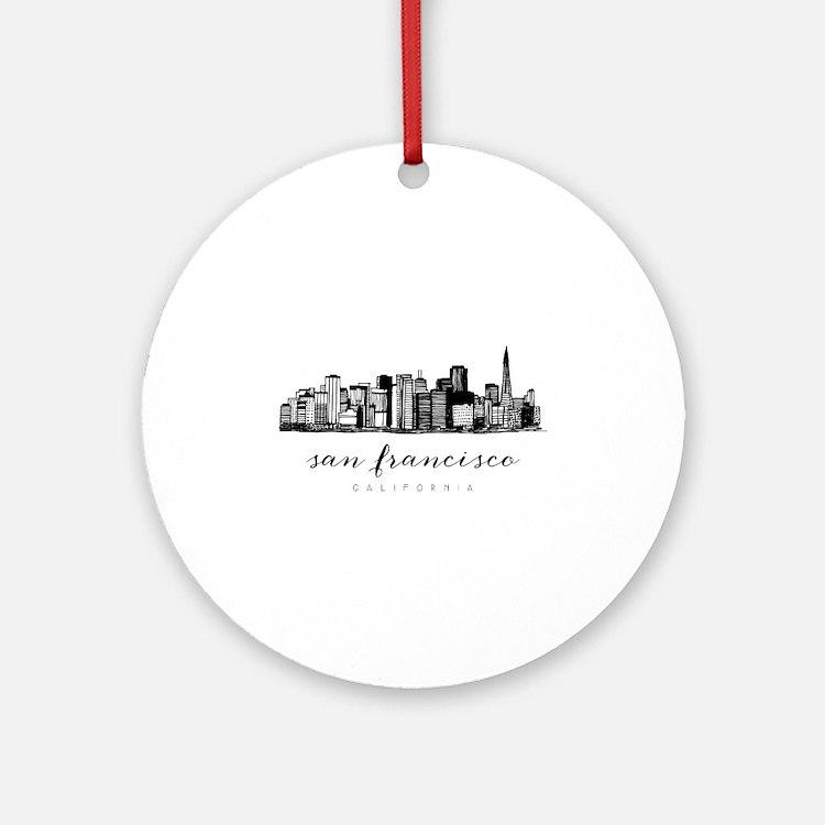 San Francisco Skyline Round Ornament