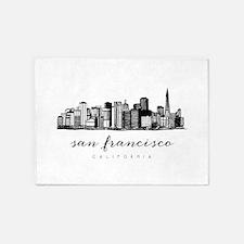 San Francisco Skyline 5'x7'Area Rug