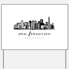 San Francisco Skyline Yard Sign