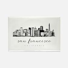 San Francisco Skyline Magnets