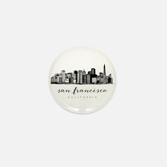 San Francisco Skyline Mini Button