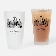 Cute Seattle Drinking Glass