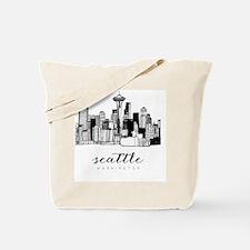 Cute Seattle Tote Bag