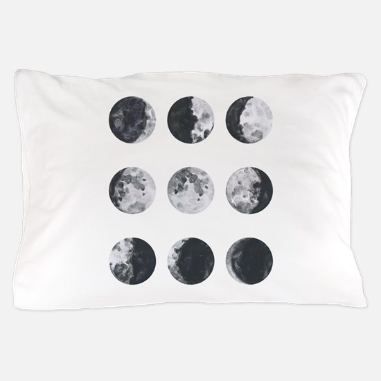 Moon Phases Pillow Case