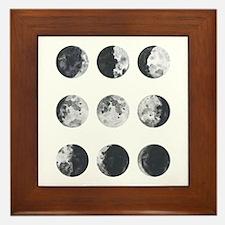 Moon Phases Framed Tile