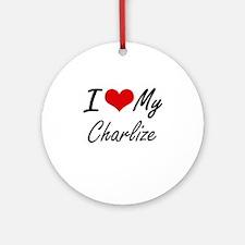 I love my Charlize Round Ornament