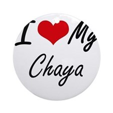 I love my Chaya Round Ornament