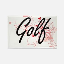 Golf Artistic Design with Hearts Magnets
