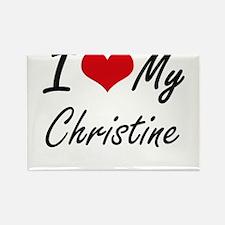 I love my Christine Magnets