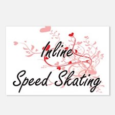 Inline Speed Skating Arti Postcards (Package of 8)
