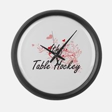 Ithf Table Hockey Artistic Design Large Wall Clock
