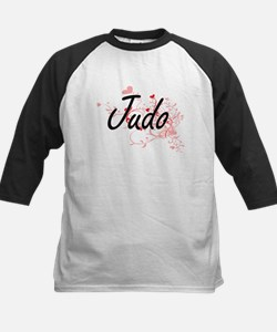 Judo Artistic Design with Hearts Baseball Jersey