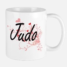 Judo Artistic Design with Hearts Mugs